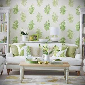 зеленые обои в интерьере 06.10.2019 №007 -green in the interior- design-foto.ru
