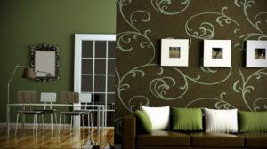 зеленые обои в интерьере 06.10.2019 №012 -green in the interior- design-foto.ru