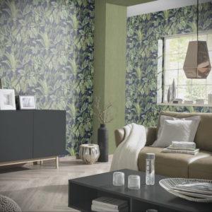 зеленые обои в интерьере 06.10.2019 №015 -green in the interior- design-foto.ru