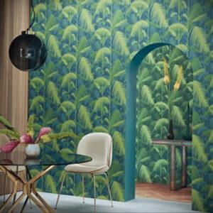 зеленые обои в интерьере 06.10.2019 №016 -green in the interior- design-foto.ru