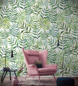 зеленые обои в интерьере 06.10.2019 №021 -green in the interior- design-foto.ru