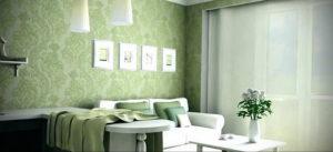 зеленые обои в интерьере 06.10.2019 №024 -green in the interior- design-foto.ru