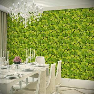 зеленые обои в интерьере 06.10.2019 №028 -green in the interior- design-foto.ru
