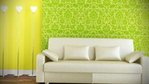 зеленые обои в интерьере 06.10.2019 №032 -green in the interior- design-foto.ru