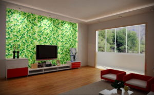 зеленые обои в интерьере 06.10.2019 №034 -green in the interior- design-foto.ru