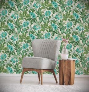 зеленые обои в интерьере 06.10.2019 №035 -green in the interior- design-foto.ru