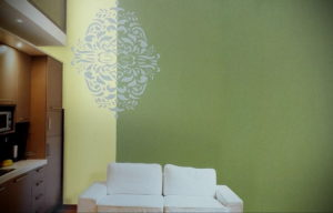 зеленые обои в интерьере 06.10.2019 №036 -green in the interior- design-foto.ru