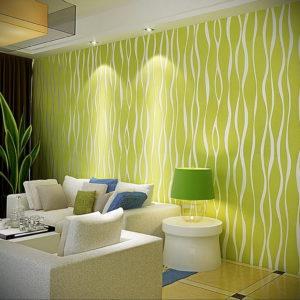 зеленые обои в интерьере 06.10.2019 №037 -green in the interior- design-foto.ru