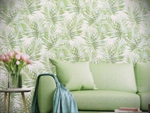 зеленые обои в интерьере 06.10.2019 №039 -green in the interior- design-foto.ru