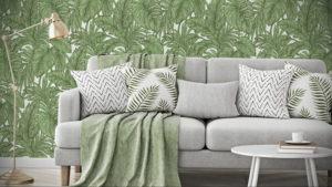 зеленые обои в интерьере 06.10.2019 №040 -green in the interior- design-foto.ru