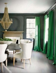 зеленые шторы в интерьере 06.10.2019 №001 -green in the interior- design-foto.ru