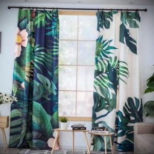 зеленые шторы в интерьере 06.10.2019 №013 -green in the interior- design-foto.ru
