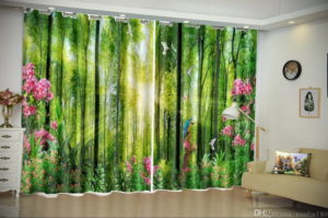 зеленые шторы в интерьере 06.10.2019 №016 -green in the interior- design-foto.ru