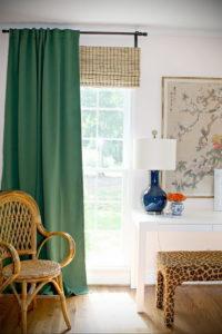 зеленые шторы в интерьере 06.10.2019 №025 -green in the interior- design-foto.ru