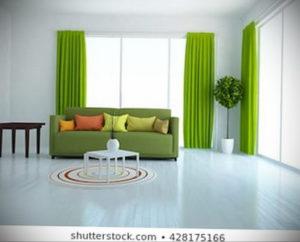 зеленые шторы в интерьере 06.10.2019 №027 -green in the interior- design-foto.ru