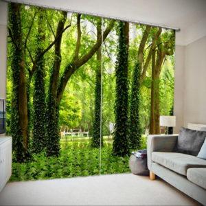зеленые шторы в интерьере 06.10.2019 №029 -green in the interior- design-foto.ru