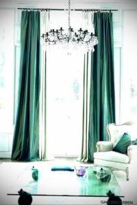 зеленые шторы в интерьере 06.10.2019 №036 -green in the interior- design-foto.ru