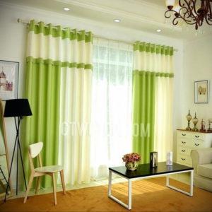зеленые шторы в интерьере 06.10.2019 №042 -green in the interior- design-foto.ru