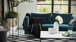 зеленый диван в интерьере 06.10.2019 №011 -green in the interior- design-foto.ru