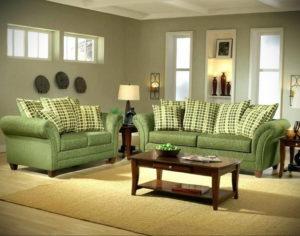 зеленый диван в интерьере 06.10.2019 №019 -green in the interior- design-foto.ru