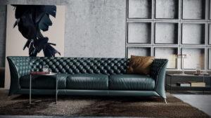 зеленый диван в интерьере 06.10.2019 №025 -green in the interior- design-foto.ru