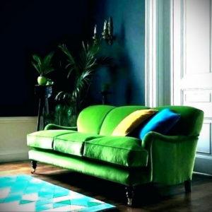 зеленый диван в интерьере 06.10.2019 №034 -green in the interior- design-foto.ru