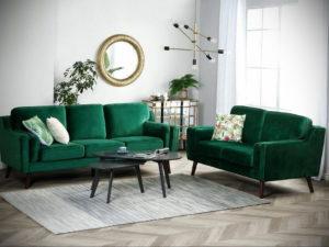 зеленый диван в интерьере 06.10.2019 №038 -green in the interior- design-foto.ru