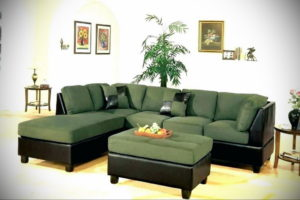 зеленый диван в интерьере 06.10.2019 №039 -green in the interior- design-foto.ru