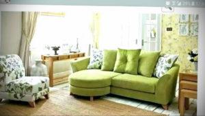 зеленый диван в интерьере 06.10.2019 №046 -green in the interior- design-foto.ru