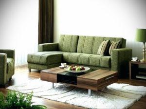 зеленый диван в интерьере 06.10.2019 №047 -green in the interior- design-foto.ru