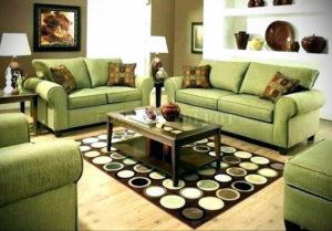 зеленый диван в интерьере 06.10.2019 №049 -green in the interior- design-foto.ru