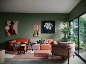 зеленый интерьер гостиной 06.10.2019 №001 -green in the interior- design-foto.ru