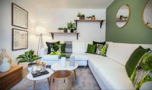 зеленый интерьер гостиной 06.10.2019 №005 -green in the interior- design-foto.ru