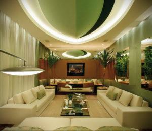 зеленый интерьер гостиной 06.10.2019 №012 -green in the interior- design-foto.ru