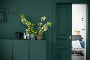 зеленый интерьер гостиной 06.10.2019 №022 -green in the interior- design-foto.ru