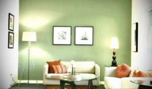 зеленый интерьер гостиной 06.10.2019 №024 -green in the interior- design-foto.ru
