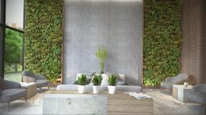 зеленый интерьер гостиной 06.10.2019 №029 -green in the interior- design-foto.ru