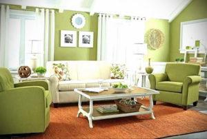 зеленый интерьер гостиной 06.10.2019 №032 -green in the interior- design-foto.ru