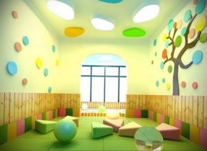 зеленый интерьер детской 06.10.2019 №038 -green in the interior- design-foto.ru