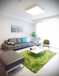 зеленый ковер в интерьере 06.10.2019 №002 -green in the interior- design-foto.ru