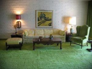 зеленый ковер в интерьере 06.10.2019 №003 -green in the interior- design-foto.ru