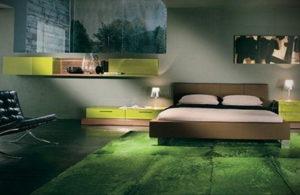 зеленый ковер в интерьере 06.10.2019 №004 -green in the interior- design-foto.ru