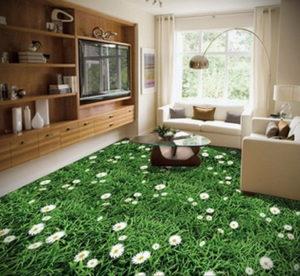 зеленый ковер в интерьере 06.10.2019 №011 -green in the interior- design-foto.ru