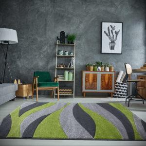 зеленый ковер в интерьере 06.10.2019 №024 -green in the interior- design-foto.ru