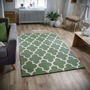 зеленый ковер в интерьере 06.10.2019 №026 -green in the interior- design-foto.ru