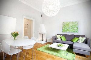 зеленый ковер в интерьере 06.10.2019 №032 -green in the interior- design-foto.ru