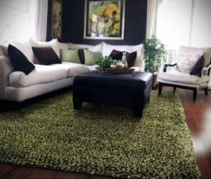 зеленый ковер в интерьере 06.10.2019 №033 -green in the interior- design-foto.ru