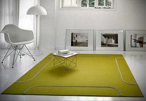 зеленый ковер в интерьере 06.10.2019 №038 -green in the interior- design-foto.ru