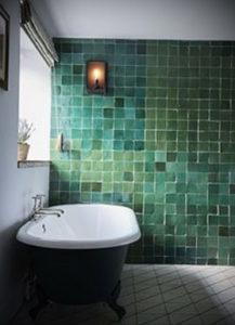 интерьеры зеленой ванны 06.10.2019 №001 -green in the interior- design-foto.ru