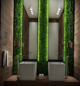 интерьеры зеленой ванны 06.10.2019 №003 -green in the interior- design-foto.ru